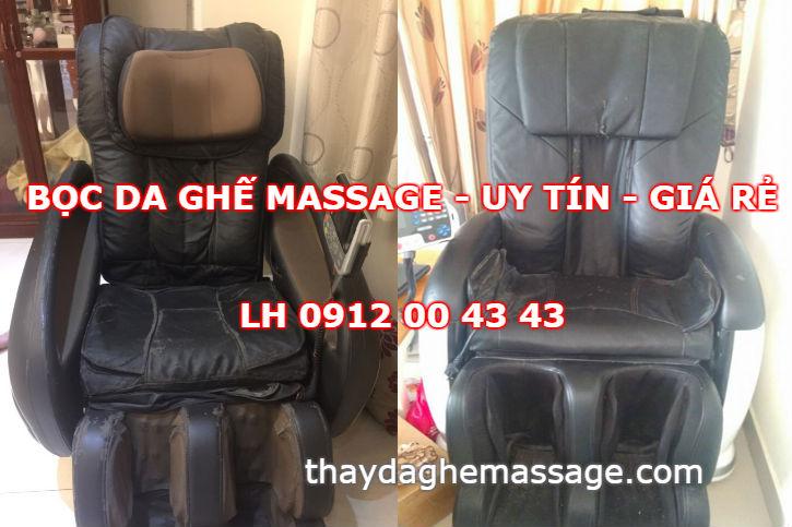 Bọc da ghế massage