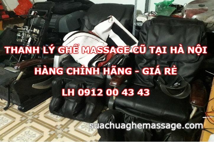 Thanh lý ghế massage cũ tại Hà Nội
