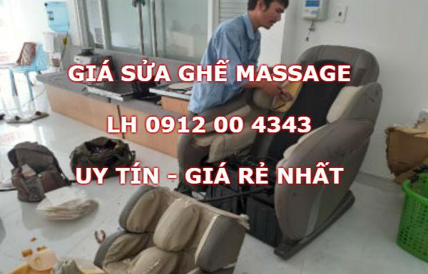 Giá sửa ghế massage tại nhà
